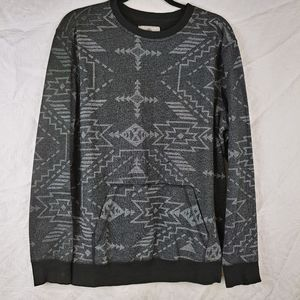 On The Byas Aztec print Blk sweatshirt L